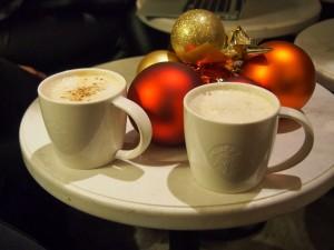 Toffee Nut Latte, Gingerbread Latte, Orange Mocha