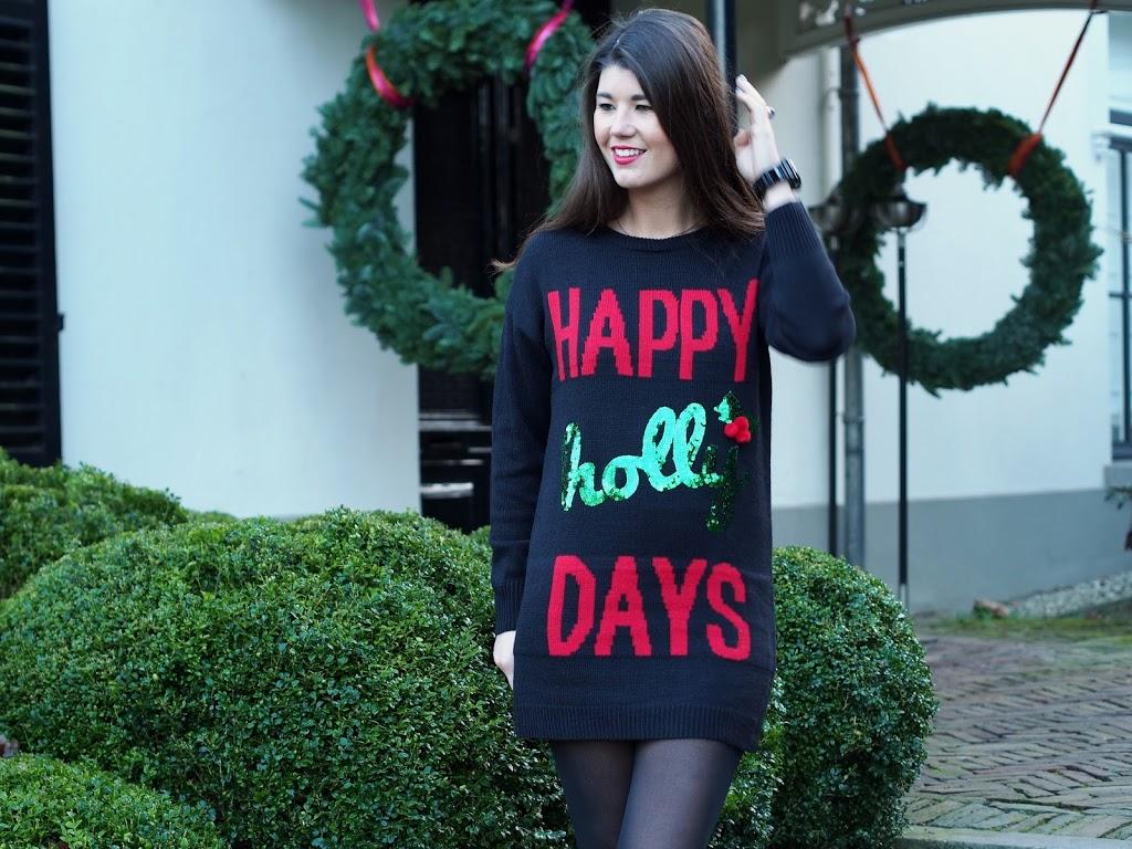 Happy hollydays jumper