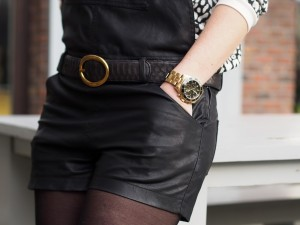 Guess Watches and NMBRNINE leather Python belt by FashionistaChloe
