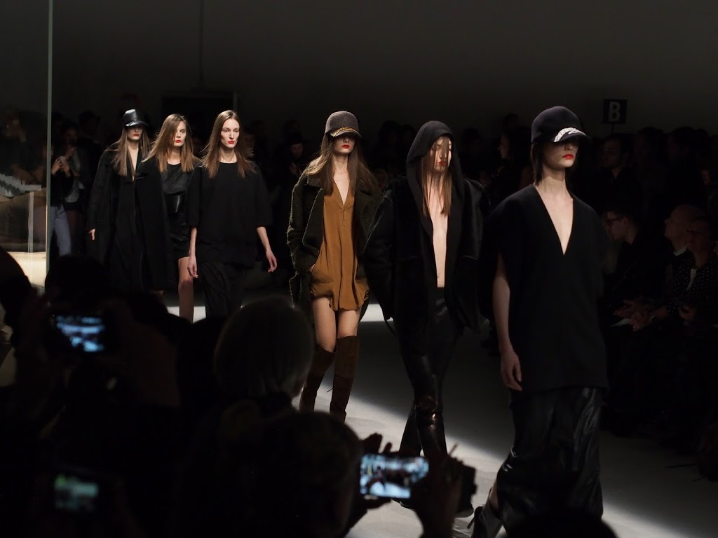 Models A.F van de Vorst show PFW Palais du Tokyo Paris AW14/15