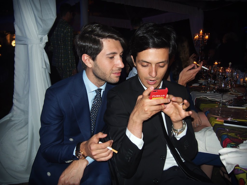 Alessandro Enriquez and Filippo Fiora at Firenze4ever event by LuisaviaRoma