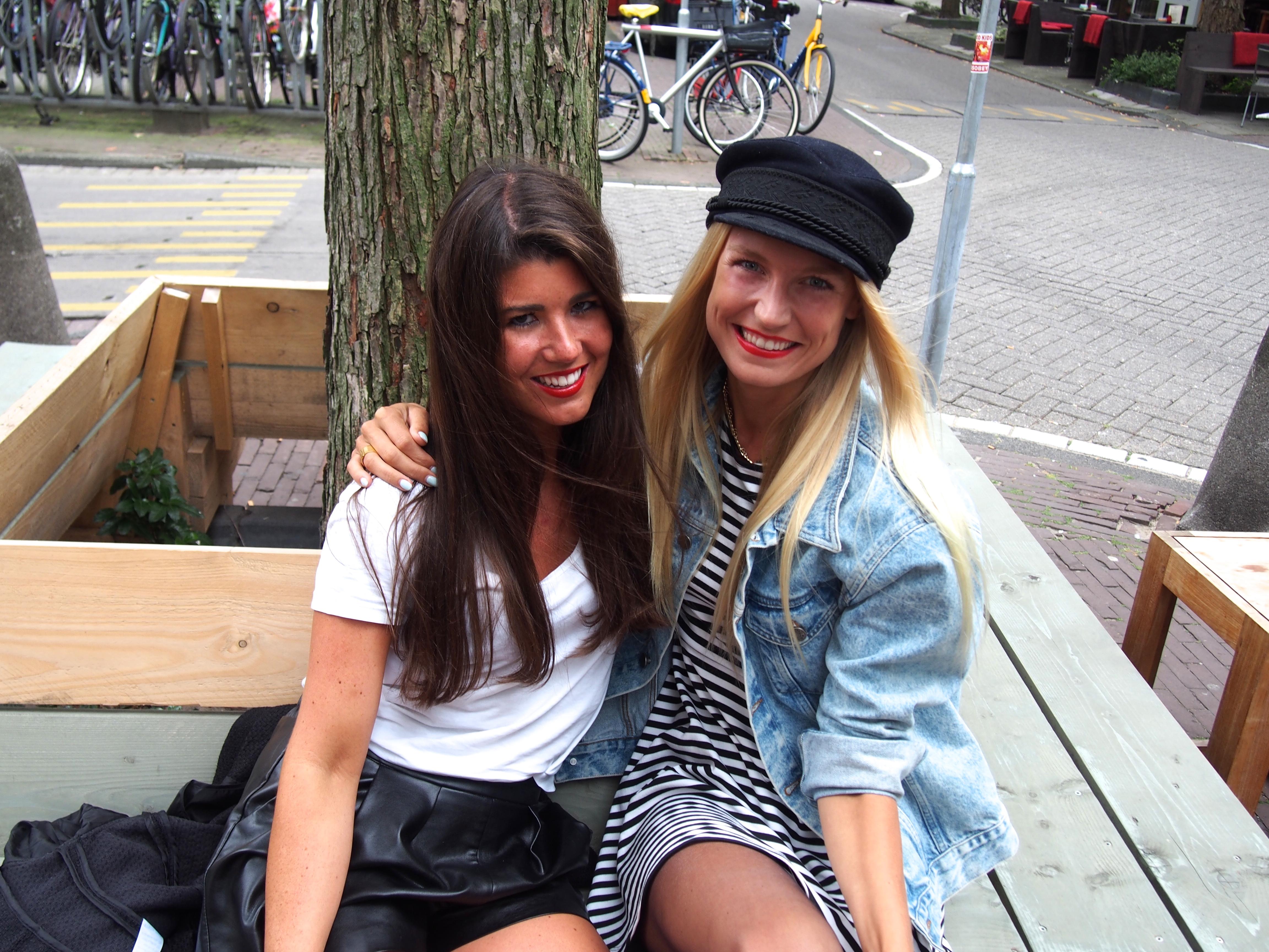 unna Haan en Chloe Sterk interview Kantor, Amsterdam Open Air en Valhalla bij Mem's Amsterdam
