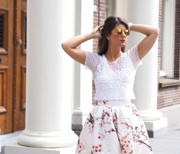 THE FLORAL PLEATED SKIRT
