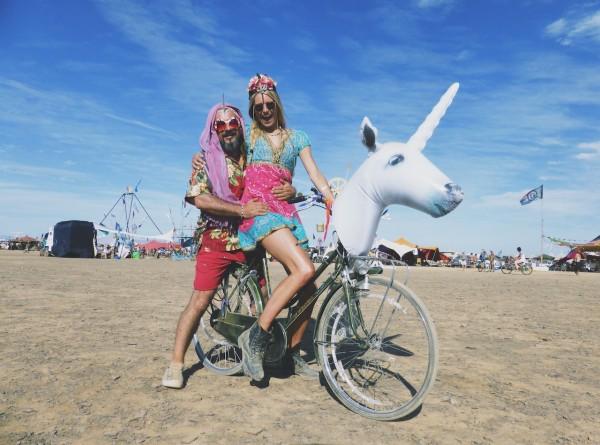 Kunna  Haan op Afrikaburn, et jongere zusje van Burning Man