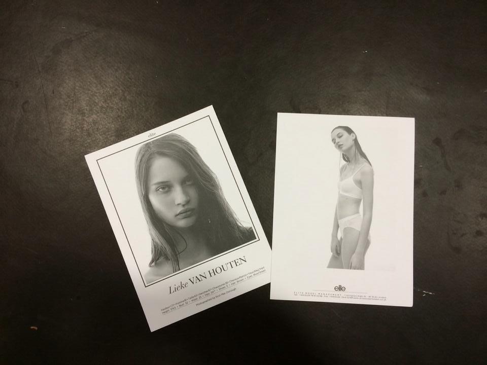 Setcards LIeke van Houten NYFW