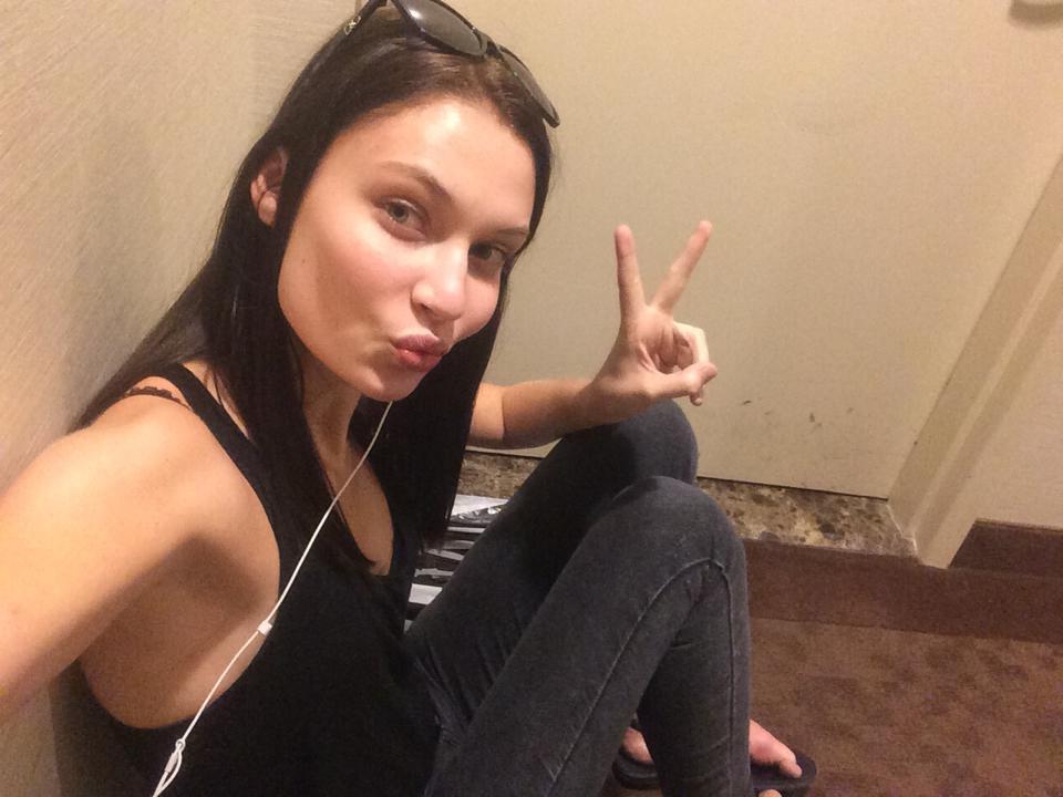 Model Lieke van Houten during NYFW