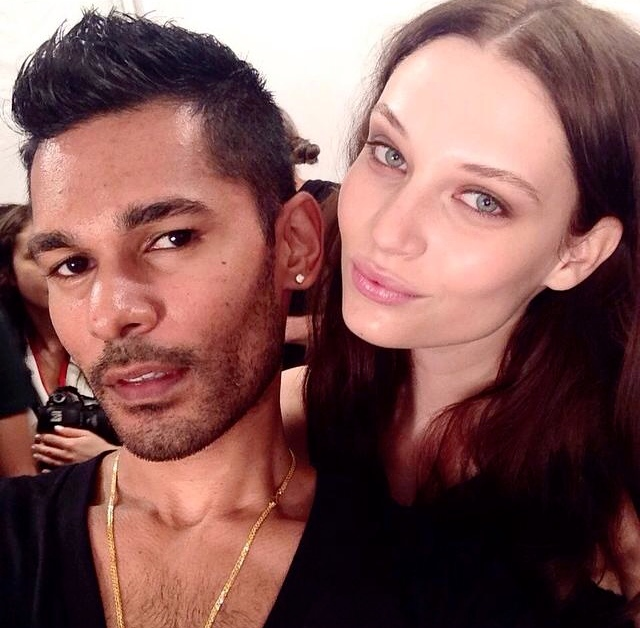 NYFW Lieke van Houten and make-up artist (credits: Instagram Lieke van Houten)