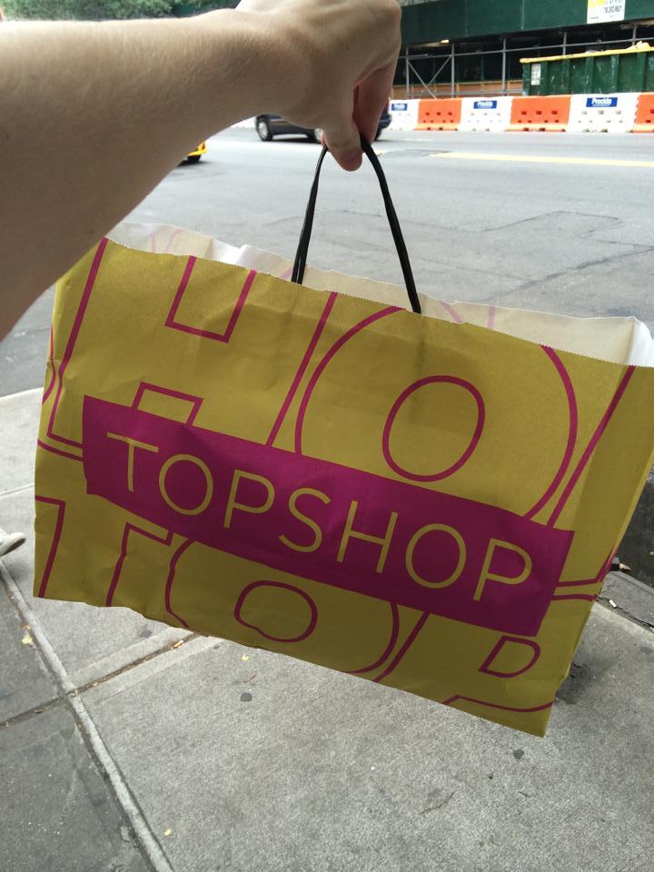 Shopping in Soho at Topshop by model Lieke van Houten