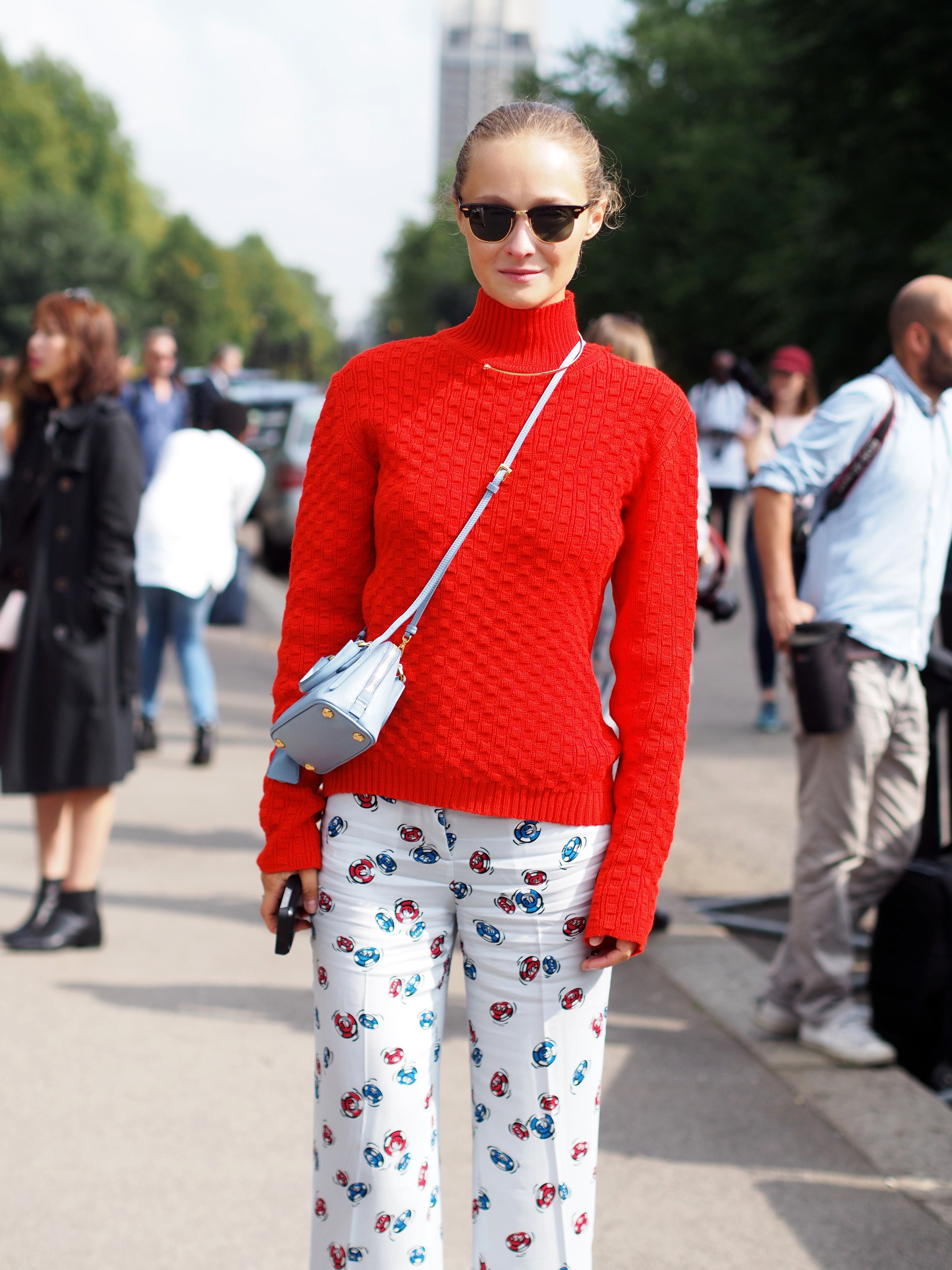 Daria Shapovalova after the Burberry show at London Fashionweek SS15 Streetstyle