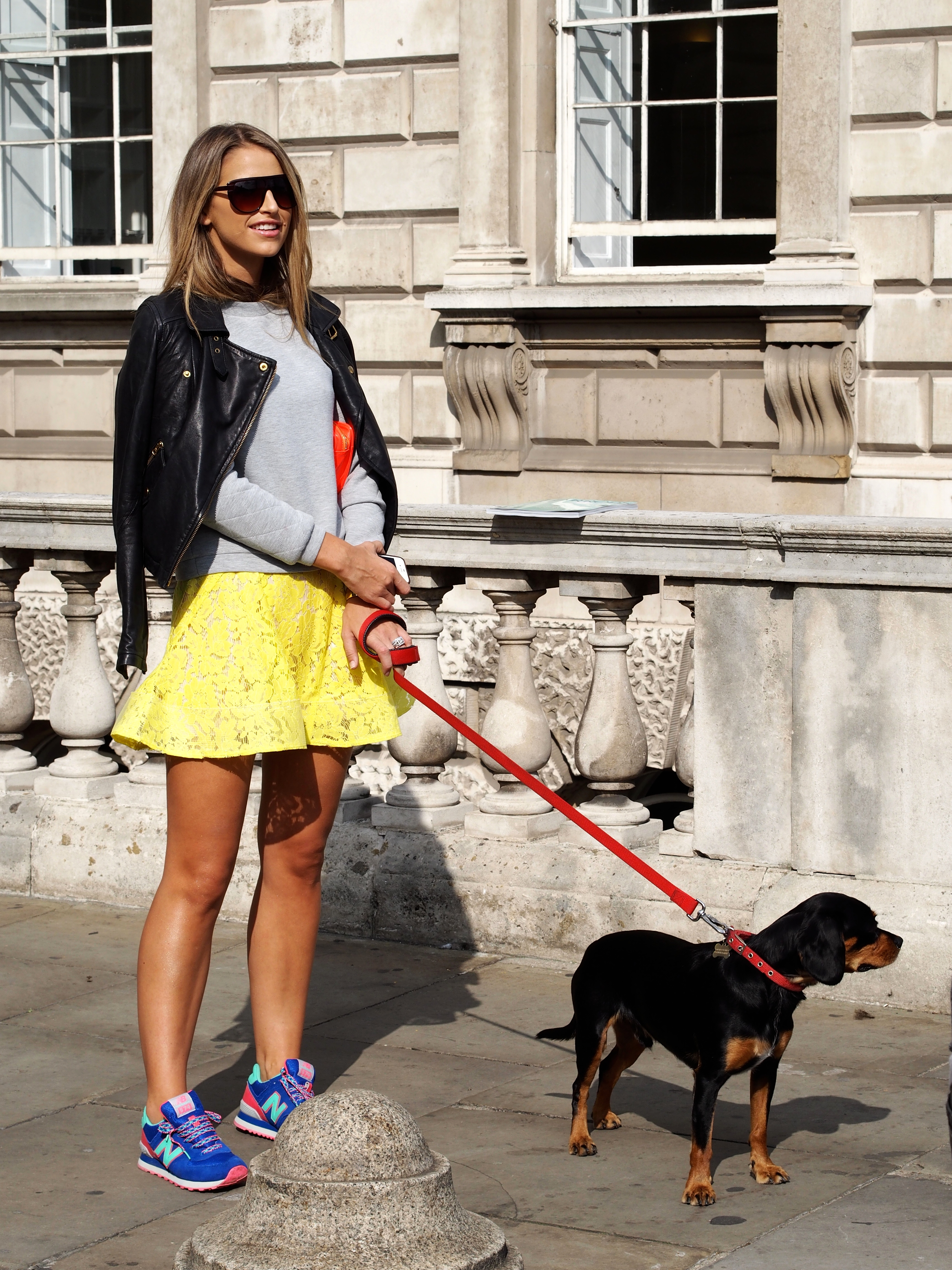 London Fashionweek Streetstyle at Somerset House London