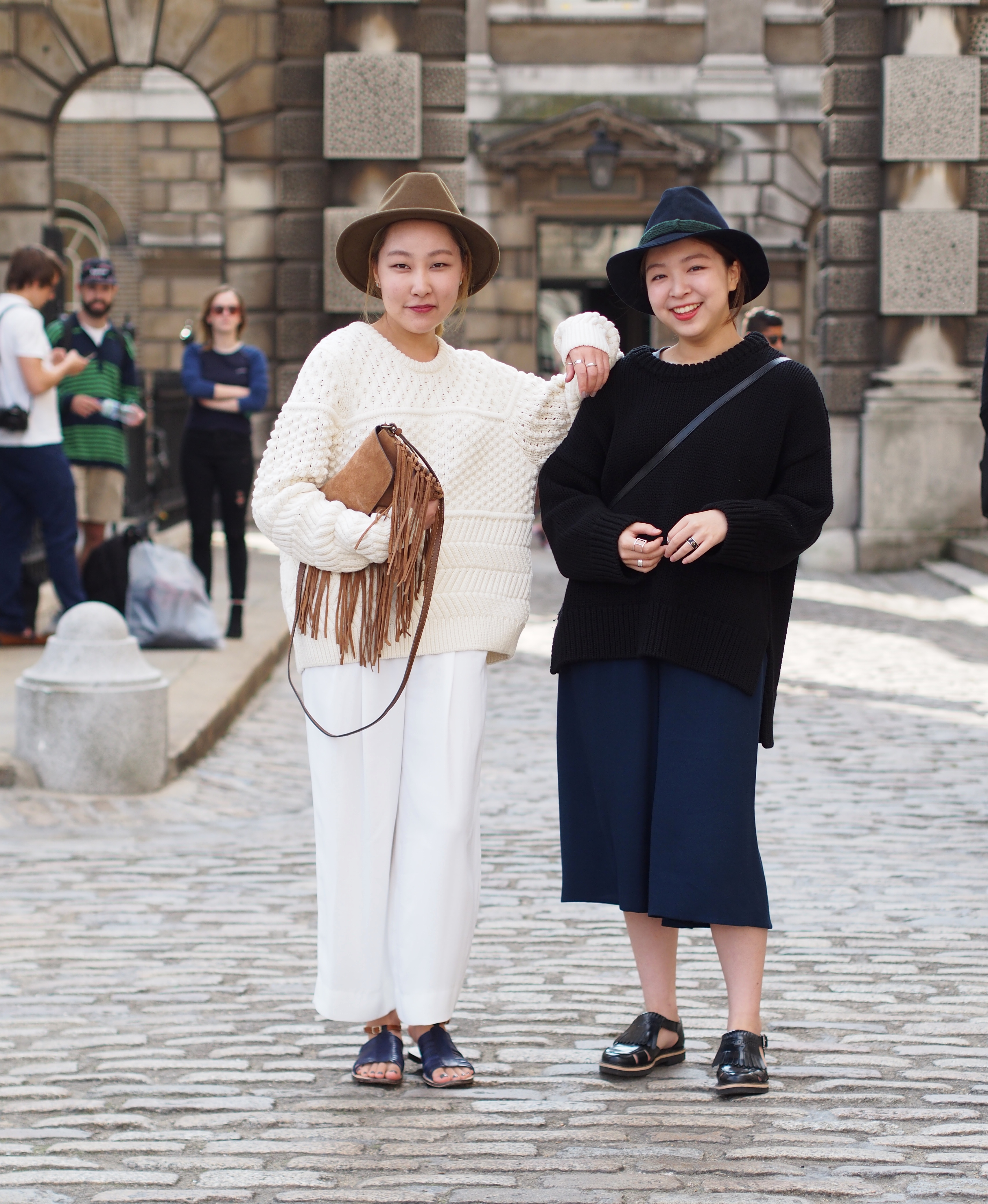 London Fashionweek Street Style at Somerset House London
