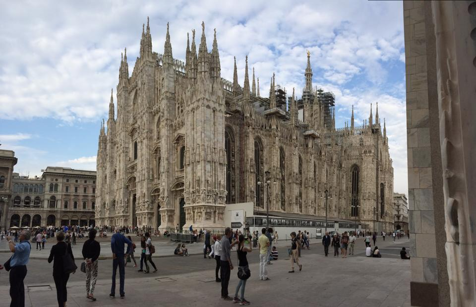 The Duomo in Milan during Milan fashion week