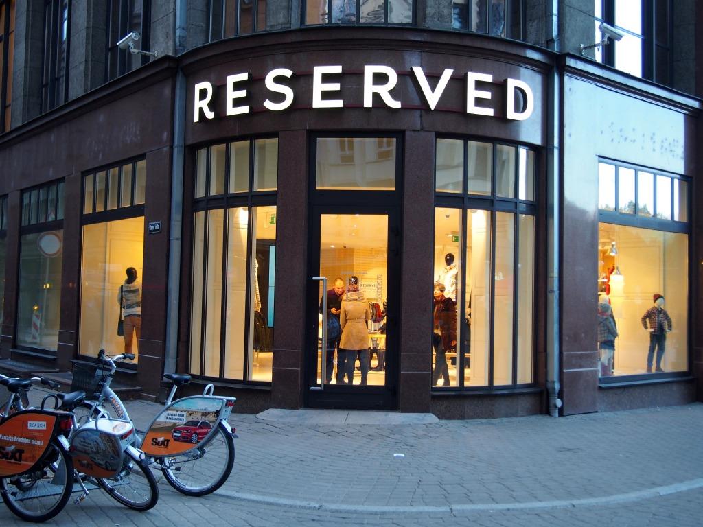 Reserved brand Riga Latvia