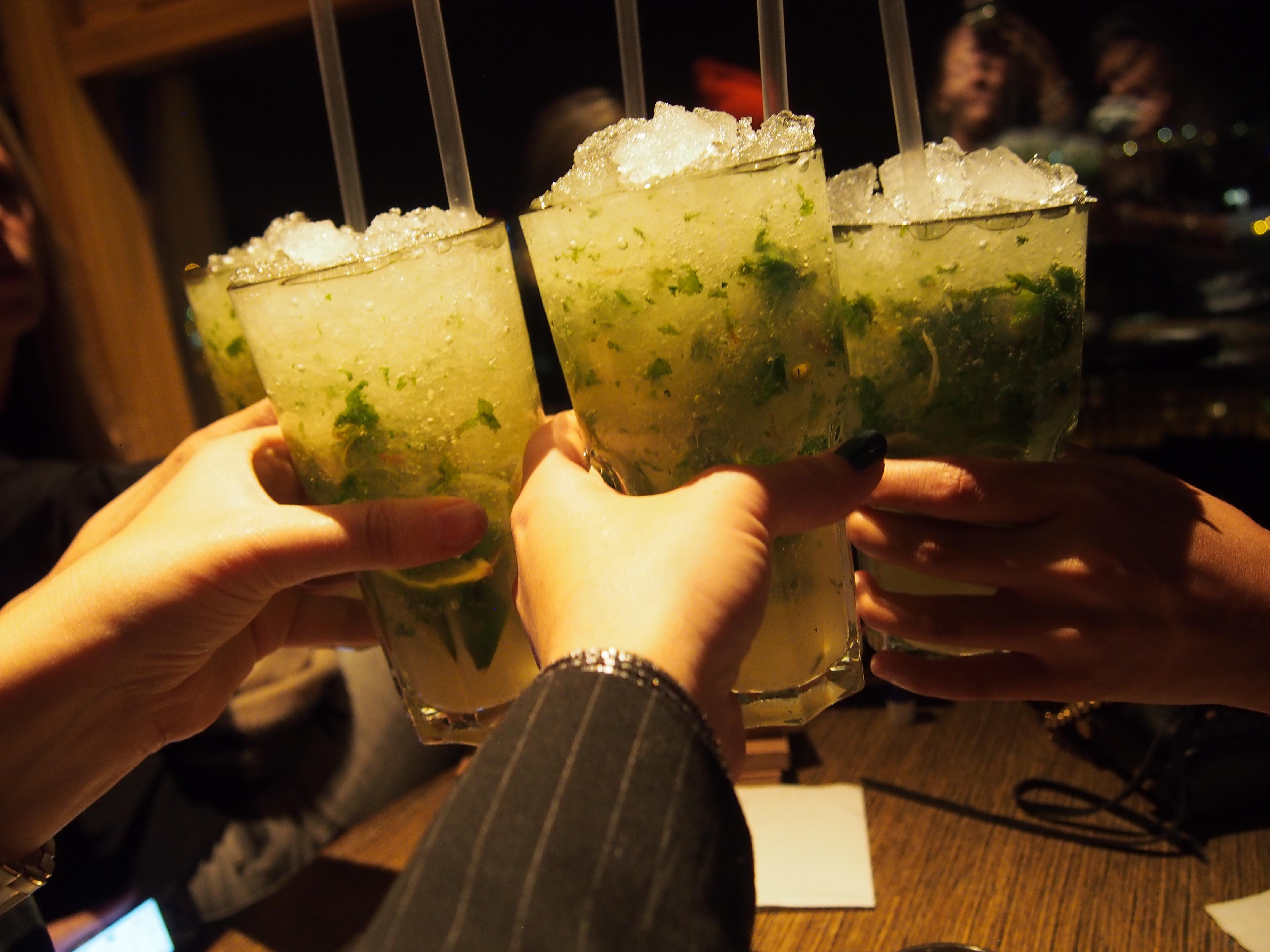 Cocktails at Radison Blue Skylounge in Riga Latvia