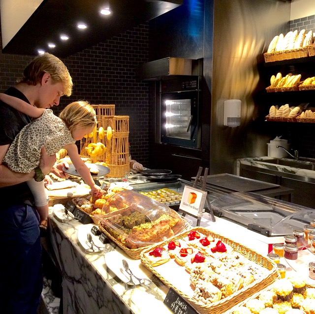 De 'Boulangerie' bij het ontbijtbuffet