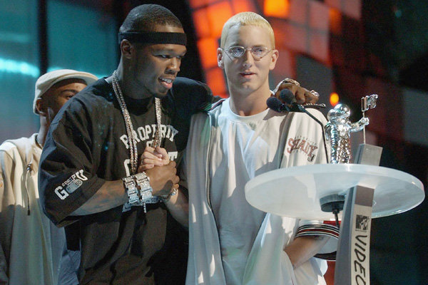 MTV Awards Eminem and 50 Cent 2003
