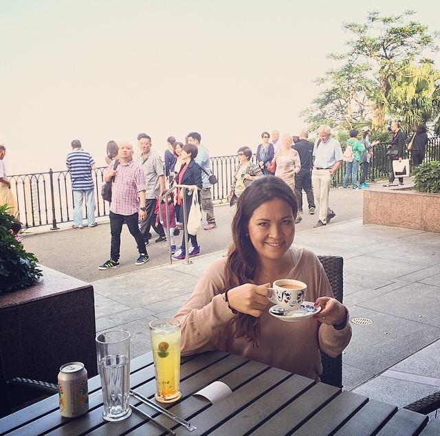 Hong Kong Milktea op de Victoria Peak