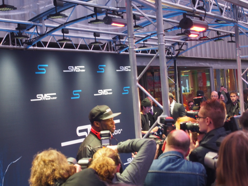 Rapper 50 cent at release party SMS Audio HMH Amsterdam (credits: ChloeSterk.nl)