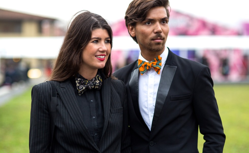 MR. AND MS. BOWTIE AT PITTI UOMO