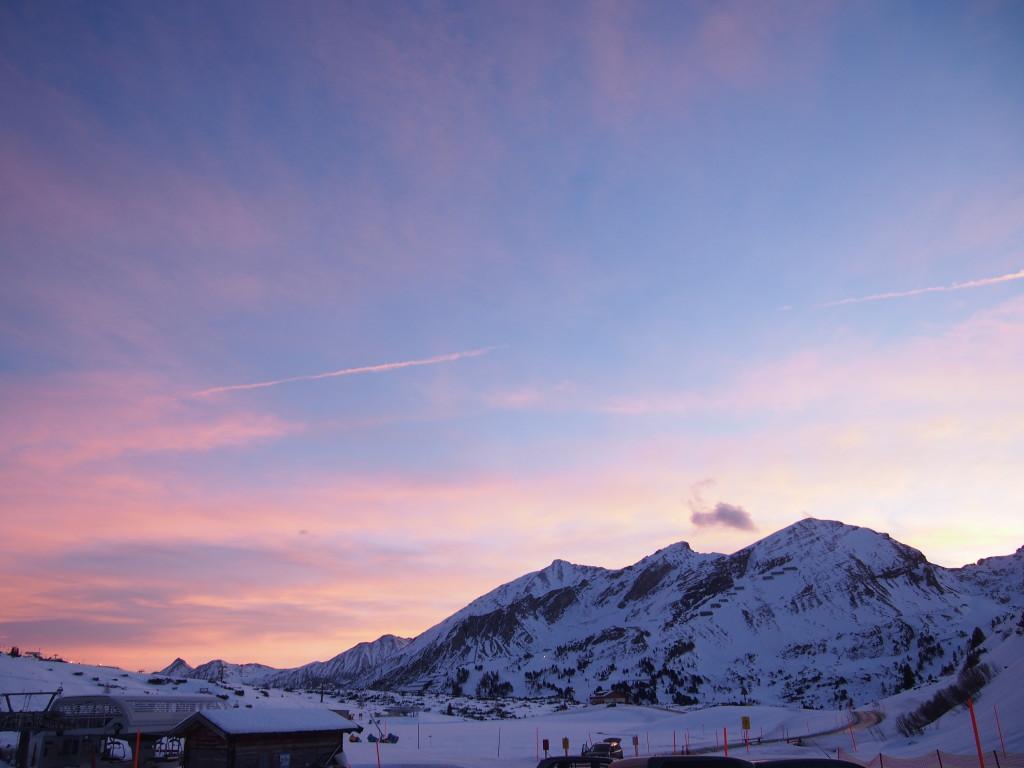 Sunset Obertauern Oostenrijk