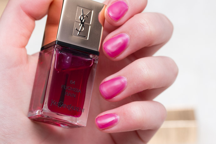 The Couture Splash - The Pop Water collection by YSL beauty blogger review Fuchsia Rain