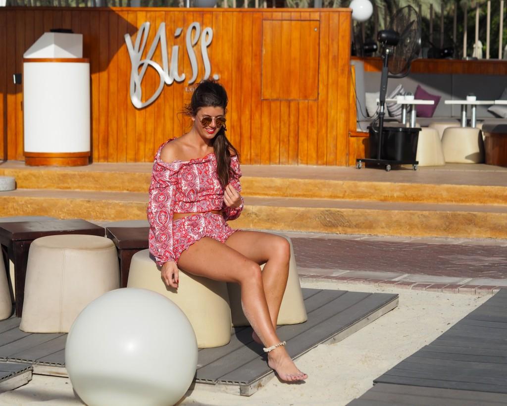 My Isabelli OOTD DUBAI Sheraton Jumeirah Club bliss lounge DUBAI