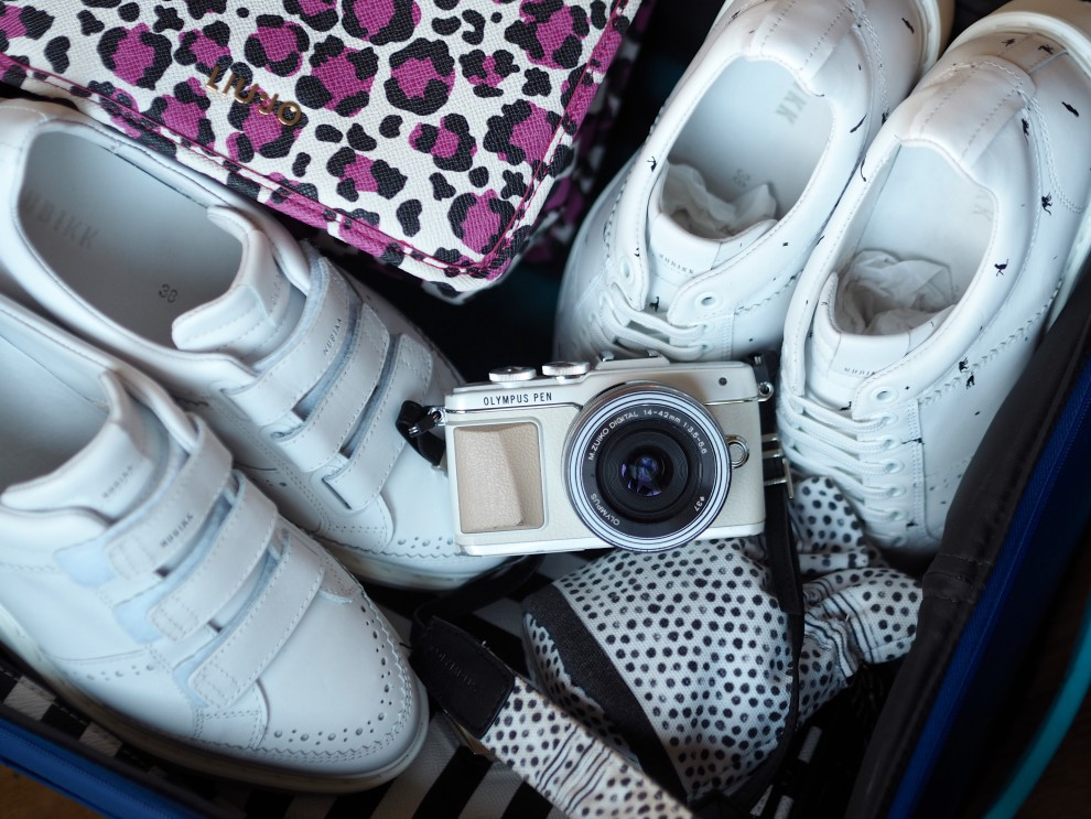 WHAT'S IN MY BAG - SUITCASE- AMERICAN TOURISTER - OLYMPUS PEN E-PL7 OLYMPUS PEN GENERATION