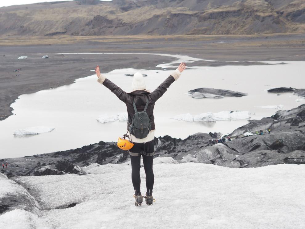 Tijdens een reis naar IJsland moet je sowieso de Gletsjers in IJsland bezoeken, Dit is gletsjer Solheimajokull