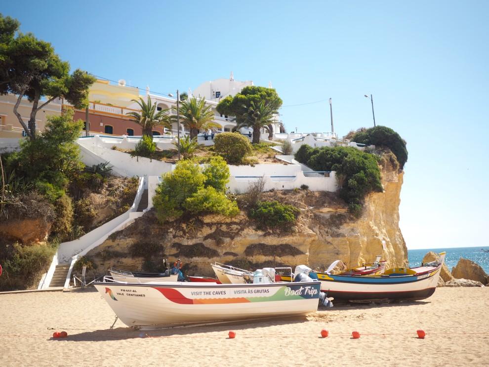 THE ALGARVE IN WINTER praia de carvoeiro