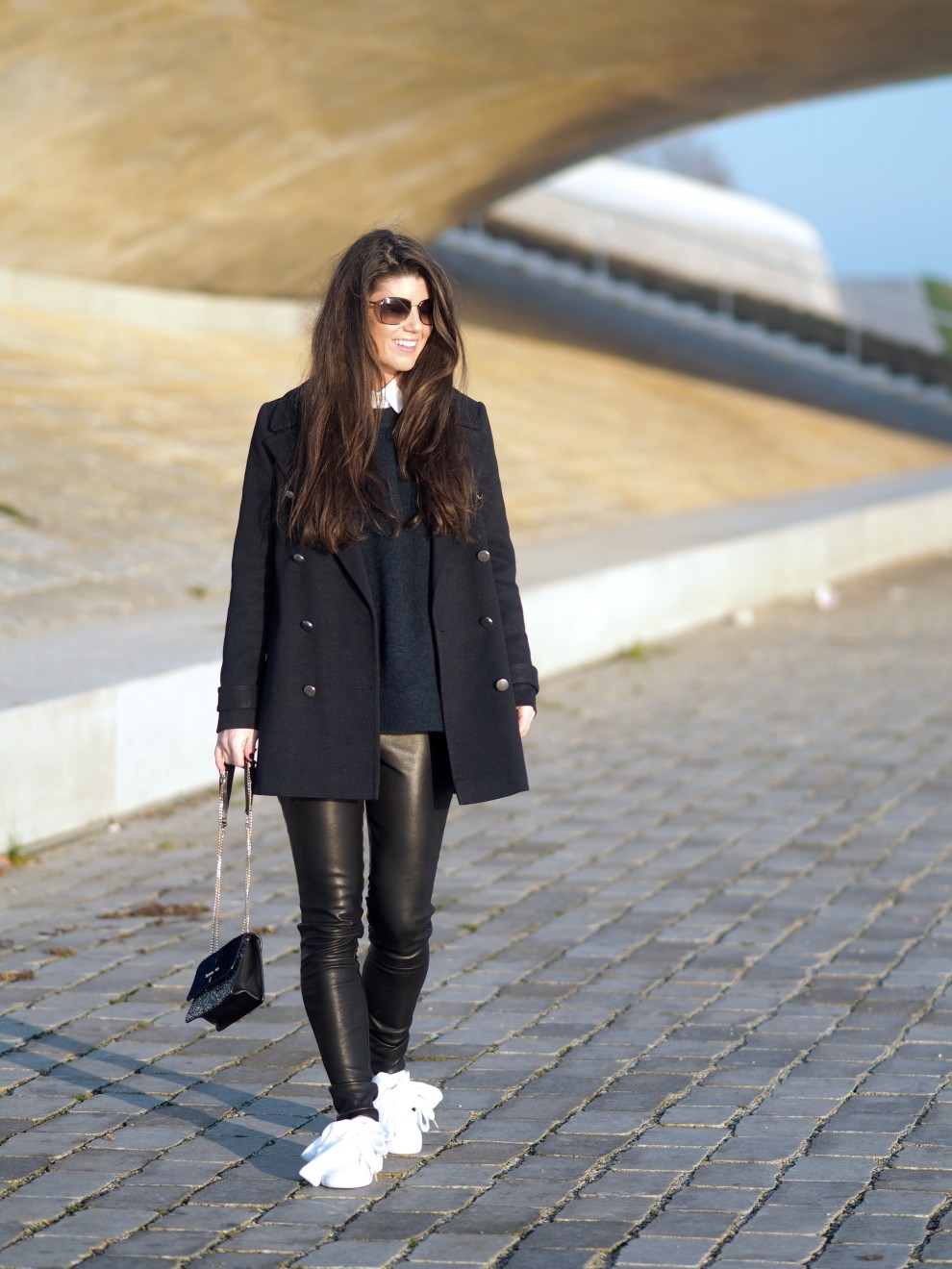 perfecte blauwe trui - samsoesamsoe fashionblog
