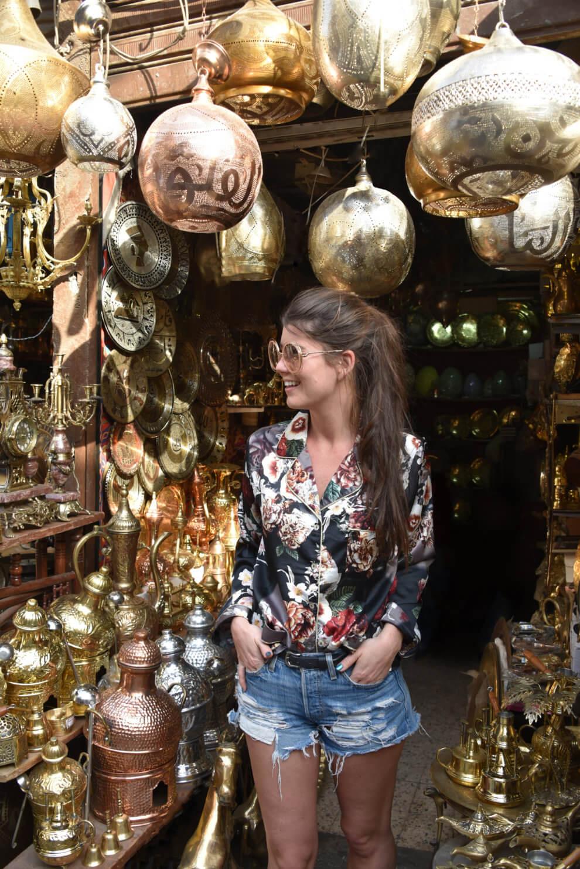 DRIE HIGHLIGHTS VAN Caïro EGYPTE - KHAN EL KHALILI BAZAAR