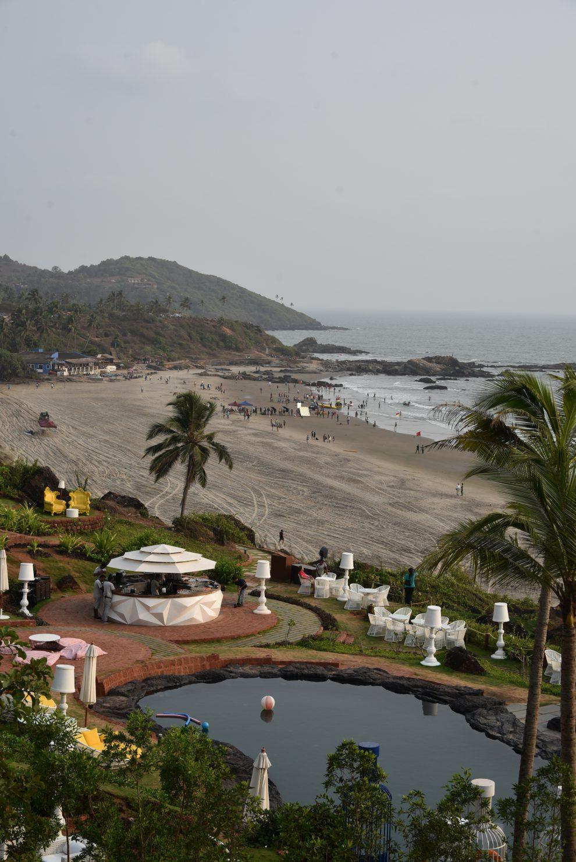 Noord Goa  is de party bestemming van India, Dit is Vagator beach, ongerepte natuur, groen en zandstranden W Goa