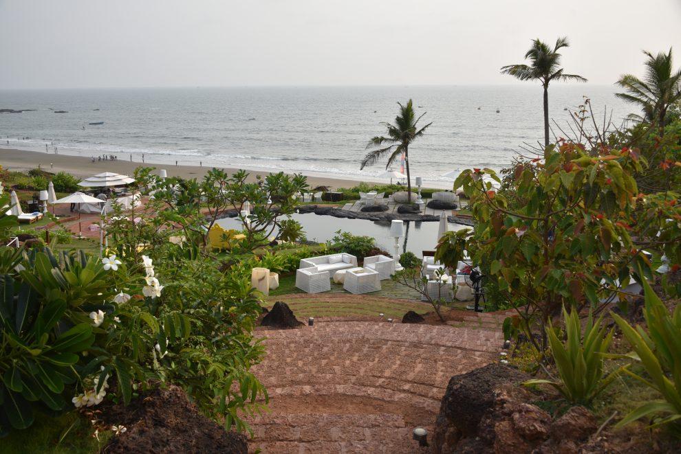 W GoaNoord Goa is de party bestemming van India, Dit is Vagator beach, ongerepte natuur, groen en zandstranden