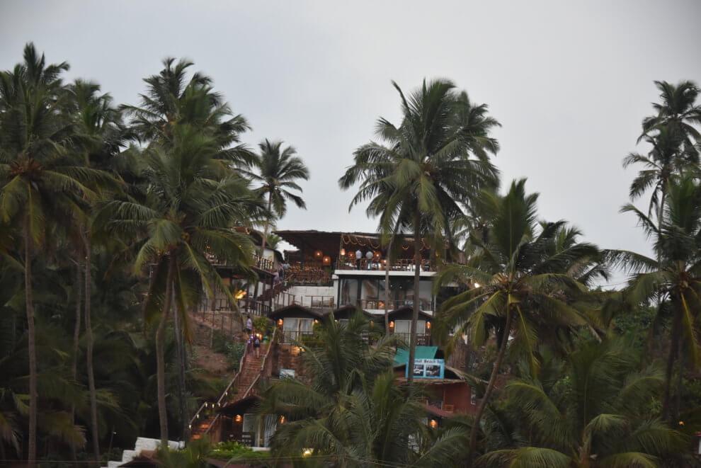 Noord Goa  is de party bestemming van India, Dit is Vagator beach