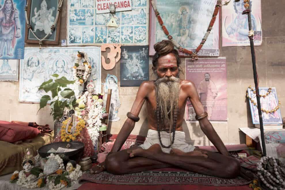 Pelgrims India Varanasi