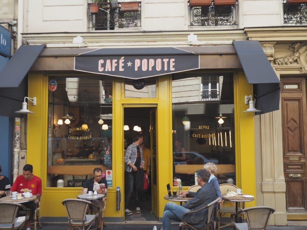 Cafe Popote 10e arrondisement Canal Saint Martin Parijs