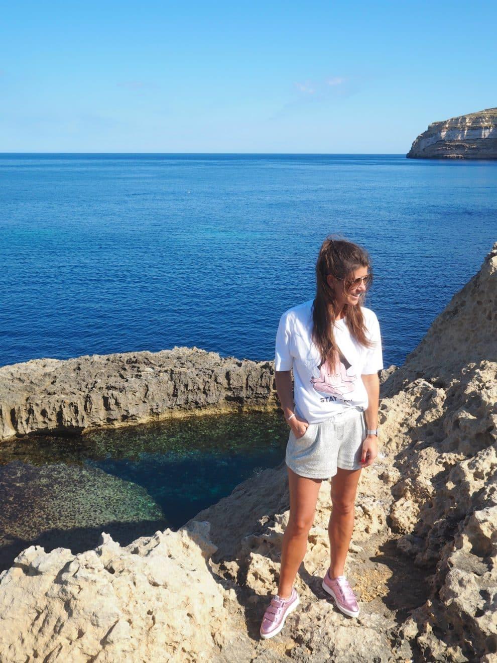 relaxte vakantie op het eiland Azure Window