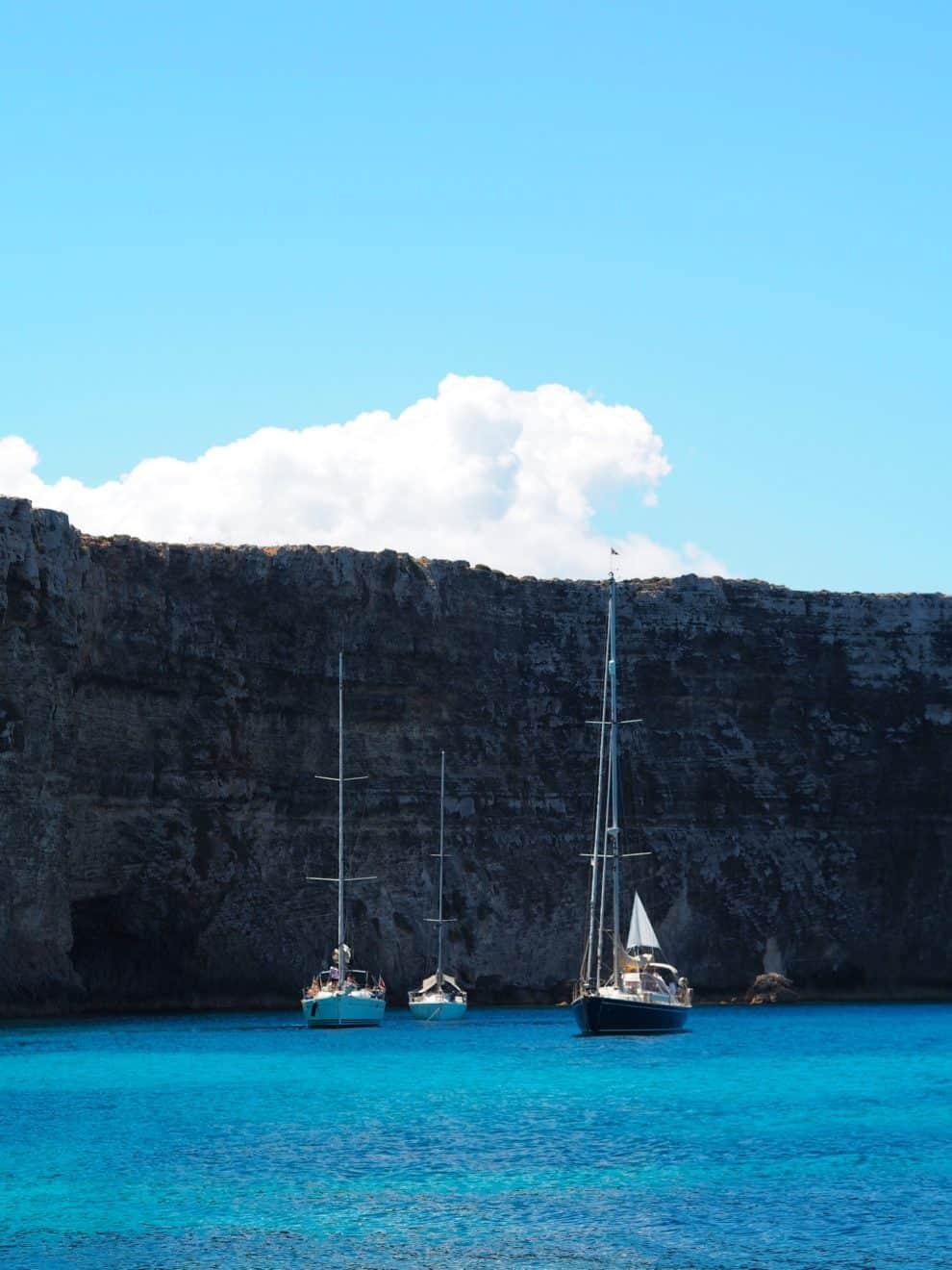 relaxte vakantie op het eiland Blue Lagoon