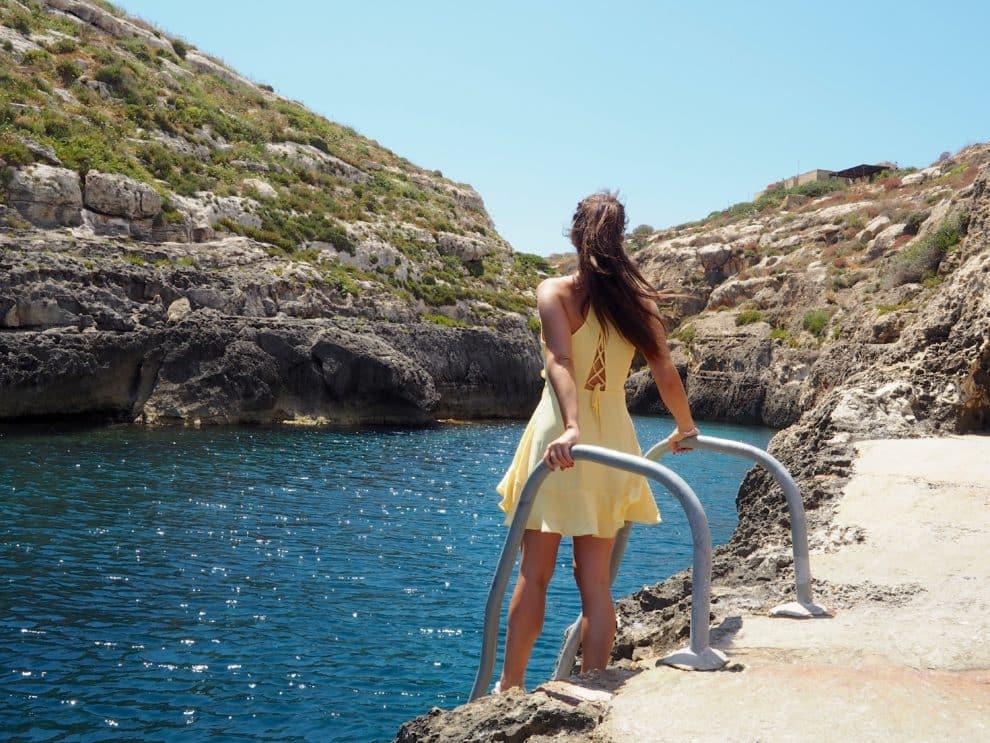 relaxte vakantie op het eiland Ta' Cenc il-Kantra