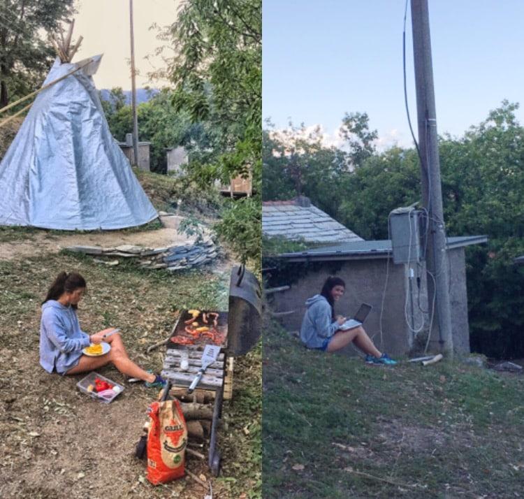 Extreme Teepee Camp Italie overnachten in een tipi tent in de bergen van Italie