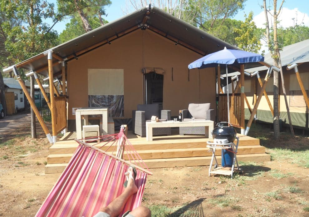 Punta Navaccia Villa Tent Italie glamping kamperen