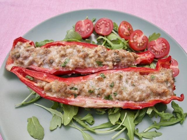 Gevulde puntpaprika's op z'n Italiaans recepten