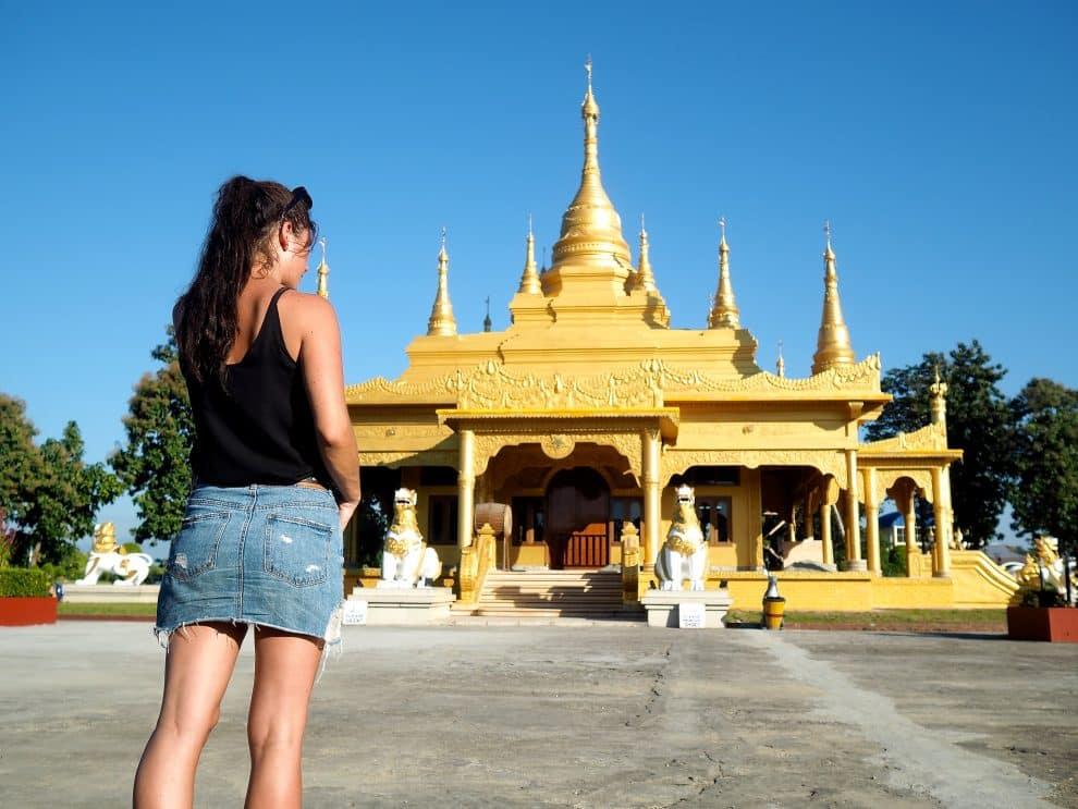 Golden Pagoda Namsai Arunachal Pradesh India