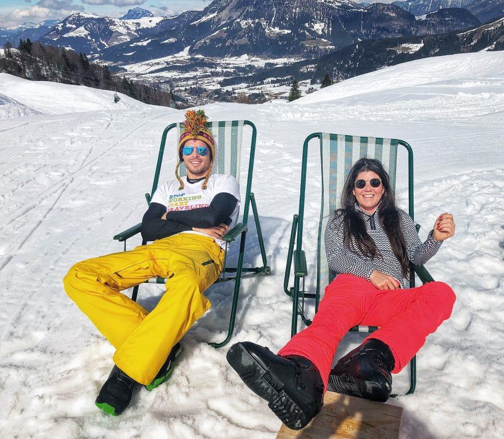 De beste ski hutten in Saalbach Hinterglemm Lärchfilzhochalm Fiebenbrunn met Tom Grond van Travel Tom Tom