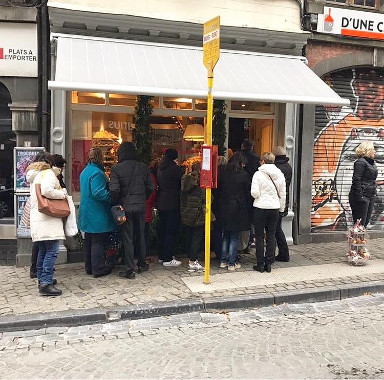 De culinaire gids van Luik Une Gaufrette Saperlipopette