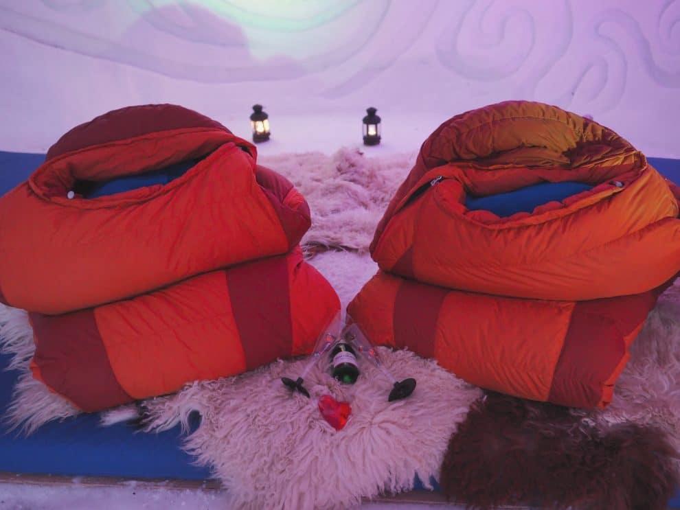 slapen in een iglo in Oostenrijk Kühtai