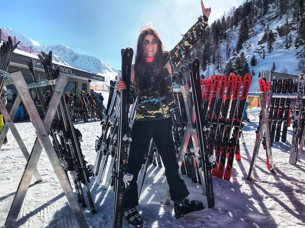 Skien in Obertauern Oostenrijk SheSkis Atomic ski's Cloud 12