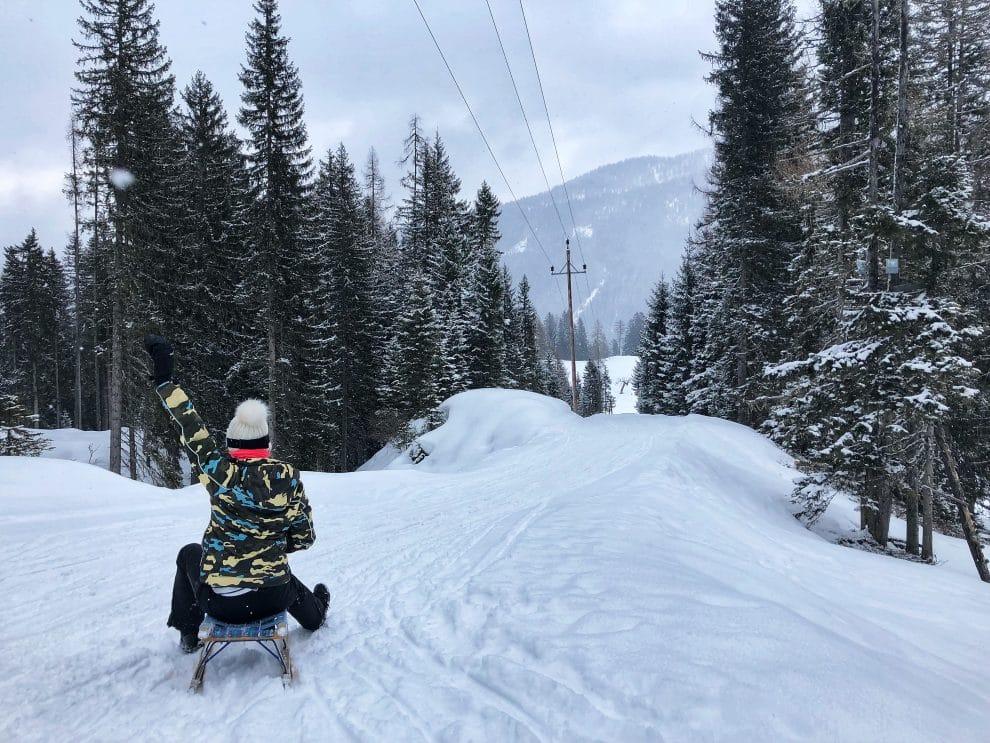 Skien in Obertauern Oostenrijk rodelen met Tom Grond Travel Tom Tom