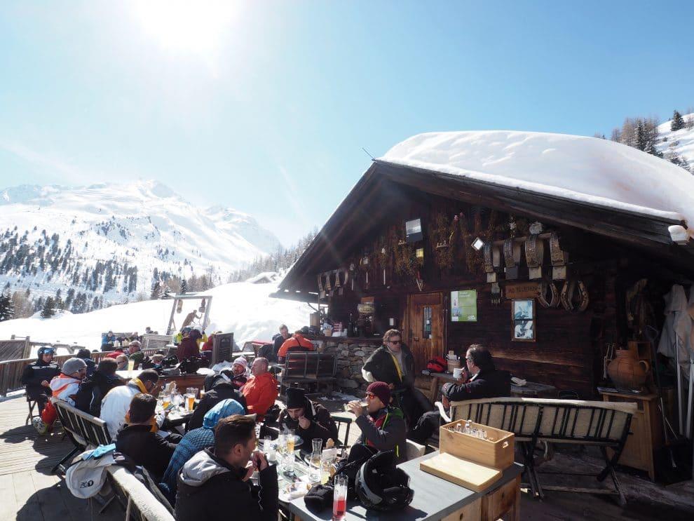 De hut in Sölden waar je het langst zon hebt Gampe Thaya Oostenrijk