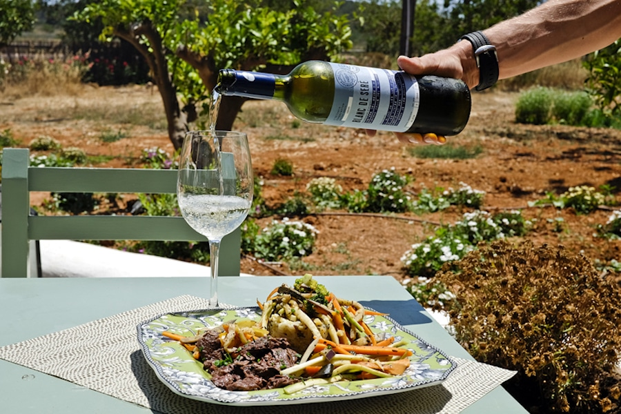Organic food op Ibiza, restaurant Aubergine Ibiza. Vegan eten op Ibiza